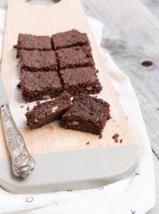 Vegan chocolate slice