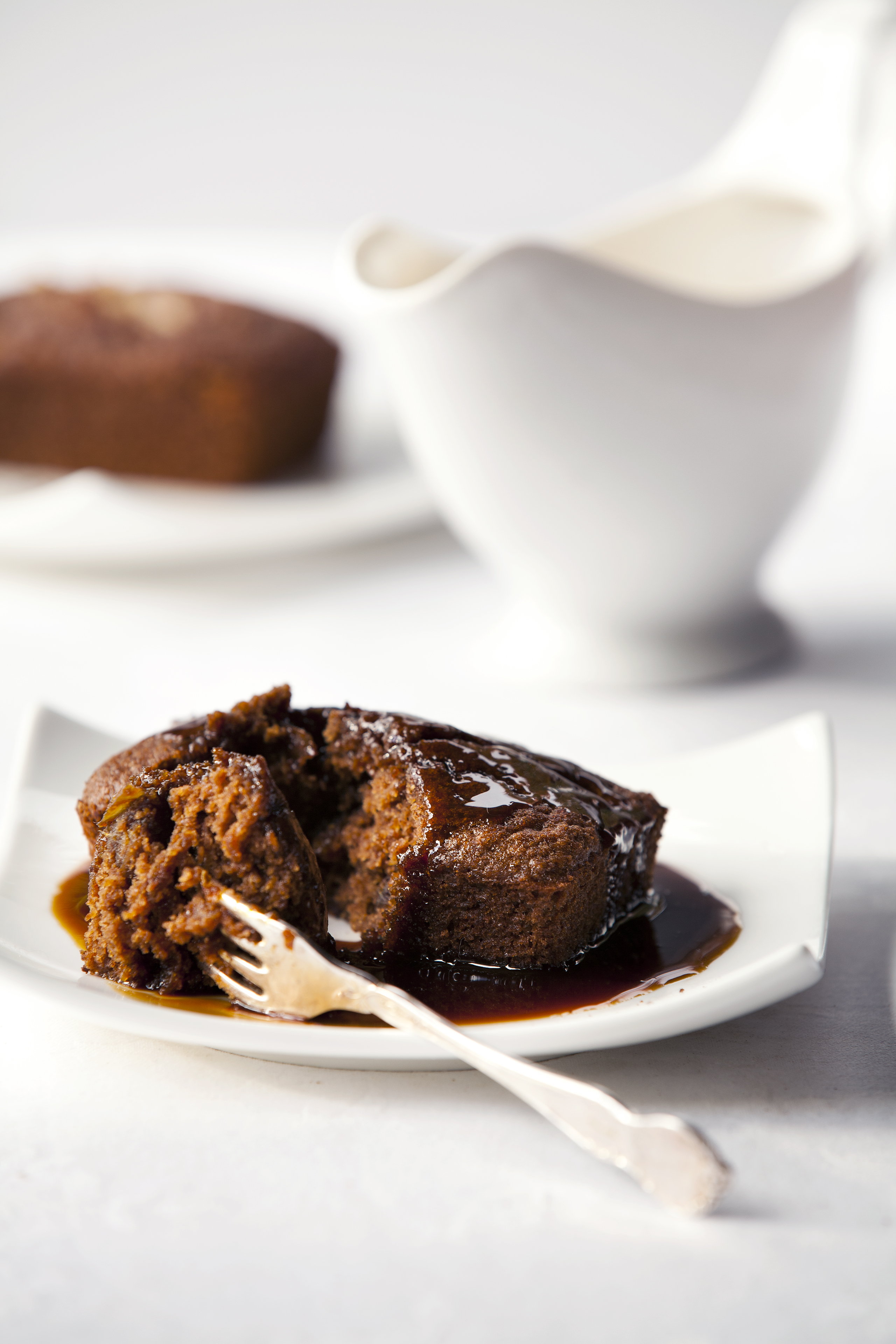 Ginger Date Puddings with Salted Caramel Sauce