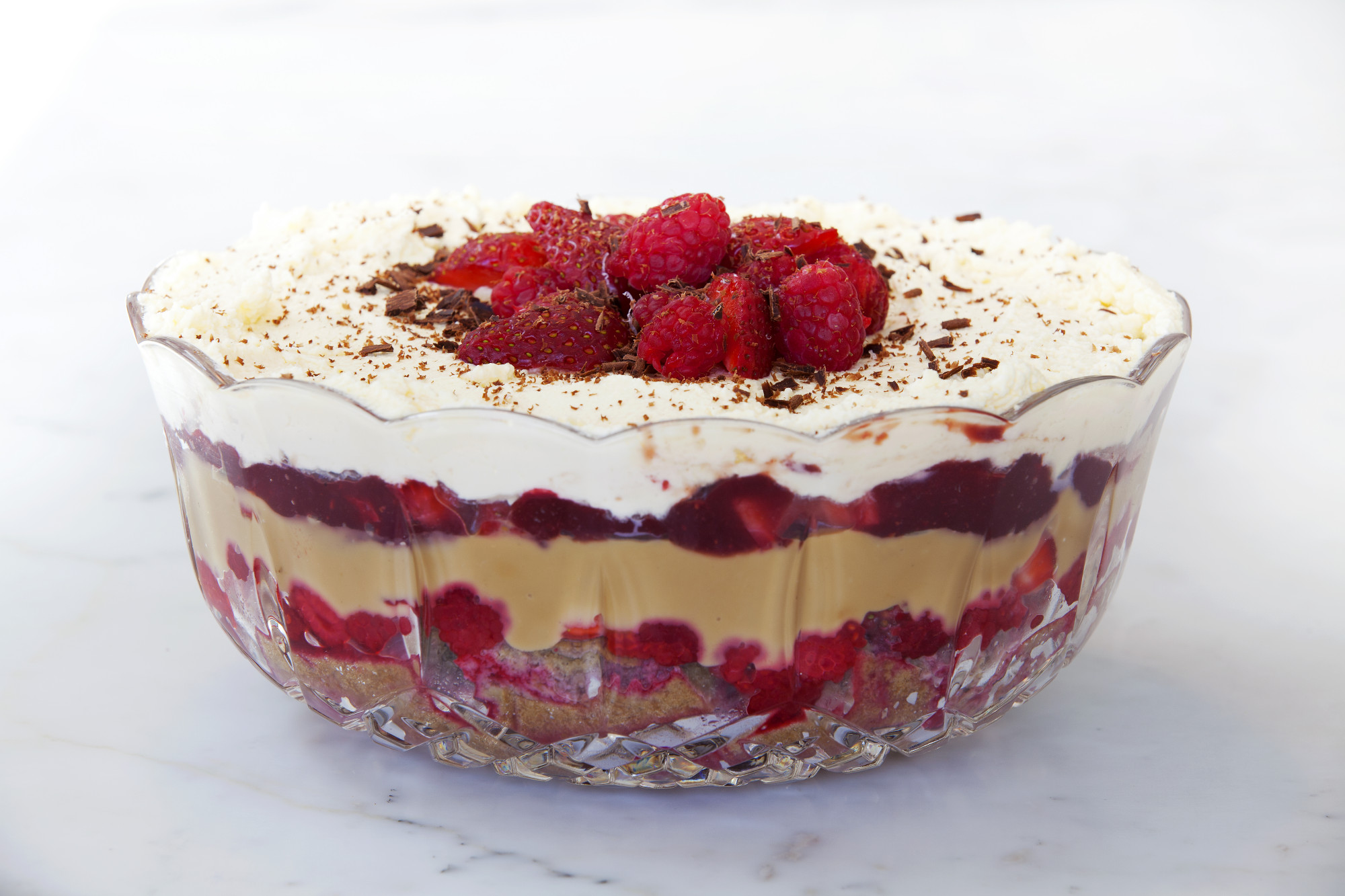Trifle. Great for Christmas or if you break a cake