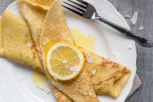 lemon paleo crepes