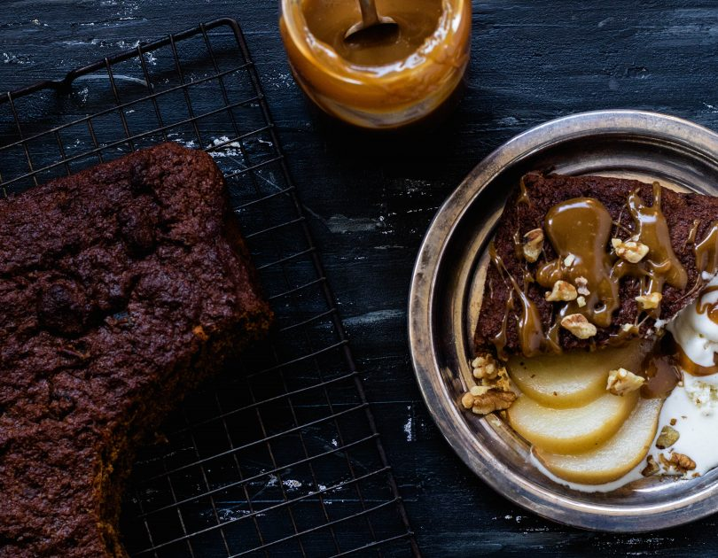 Sticky Date Pudding with Poached Pears