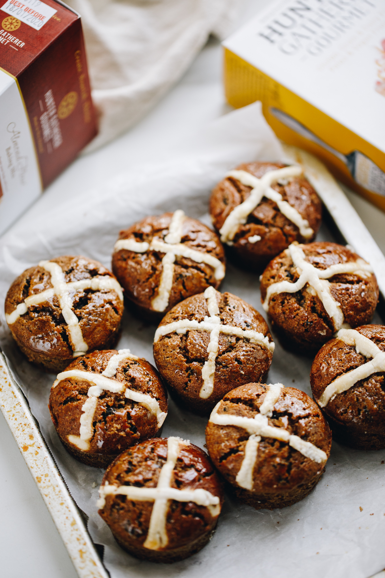 Hot Cross Bun Muffins